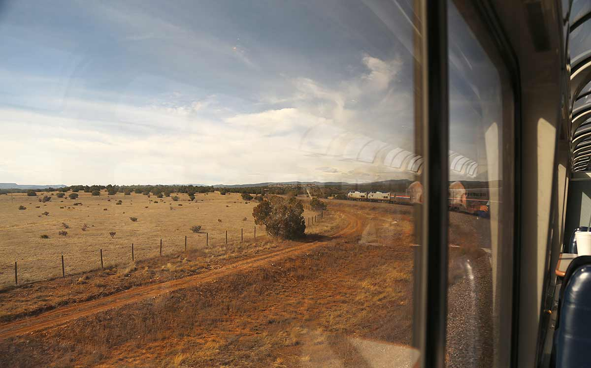 Amtrak's Southwest Chief near Raton Pass in New Mexico