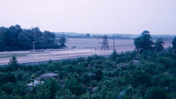 Berlin Wall, overlooking the wall and death strip near Lichterfelde, 1971