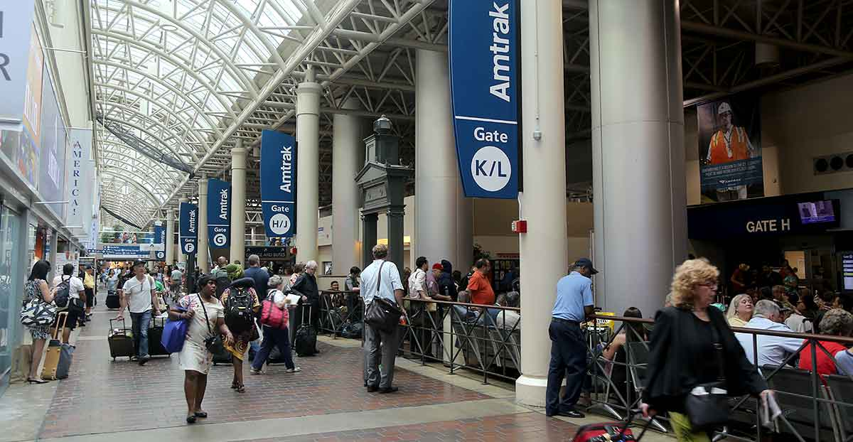 The Amtrak Concourse at Washington Union Station