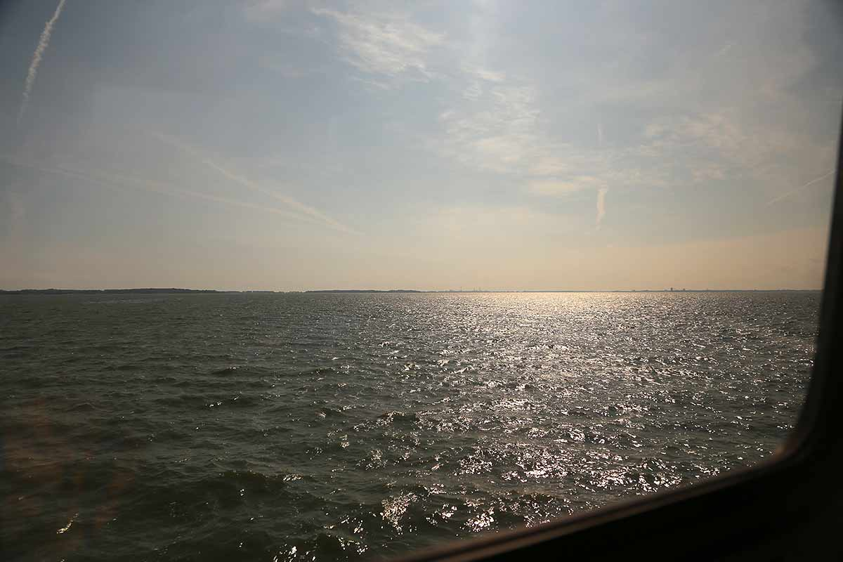 View of Lake Erie from the train