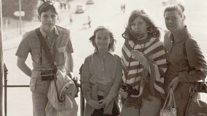 Claes and host family in Berlin 1971