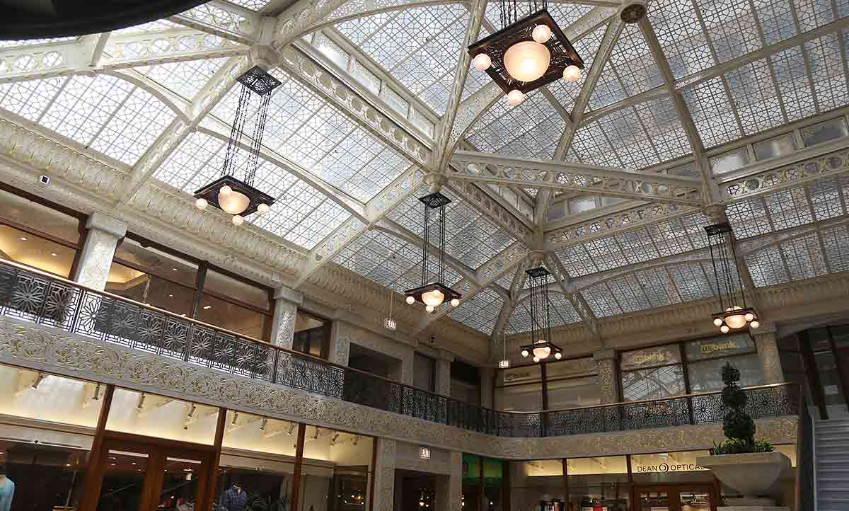 The Rookery skylight interior
