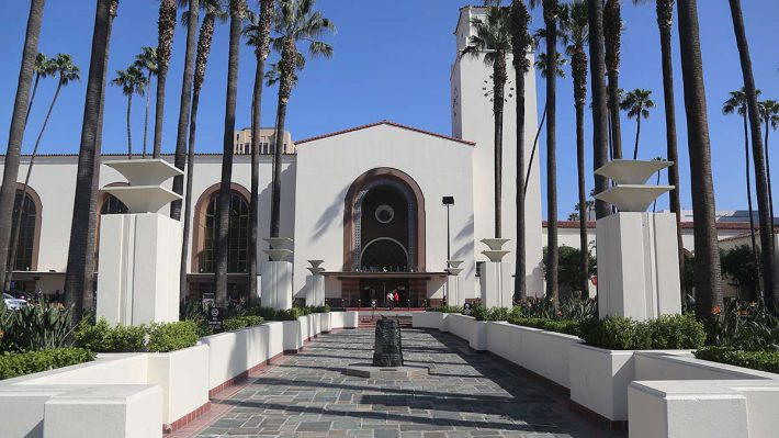 Los Angeles Union station front entrance