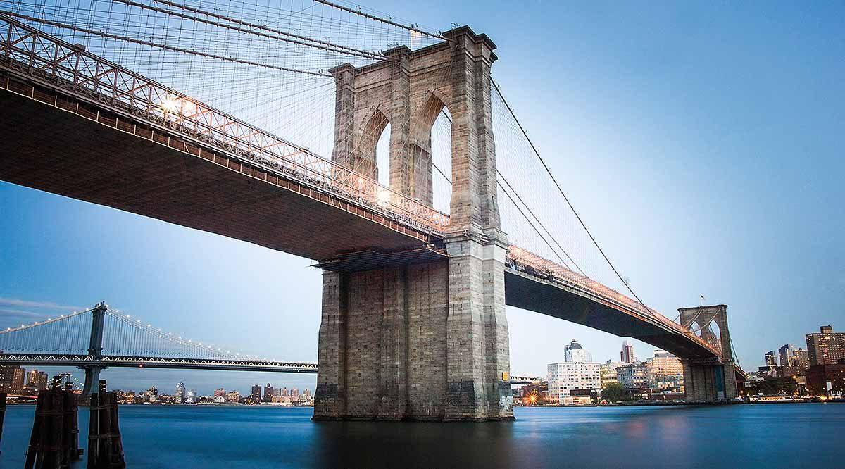 Brooklyn Bridge, seen from Manhattan