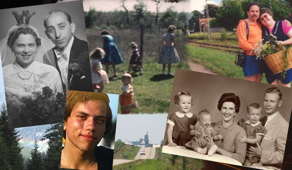 Collage of people and places from memories of my past