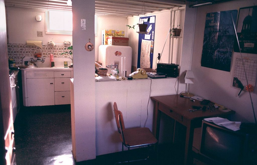 Basement apartment interior