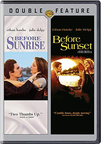 Before Sunrise and Before Sunset movie covers