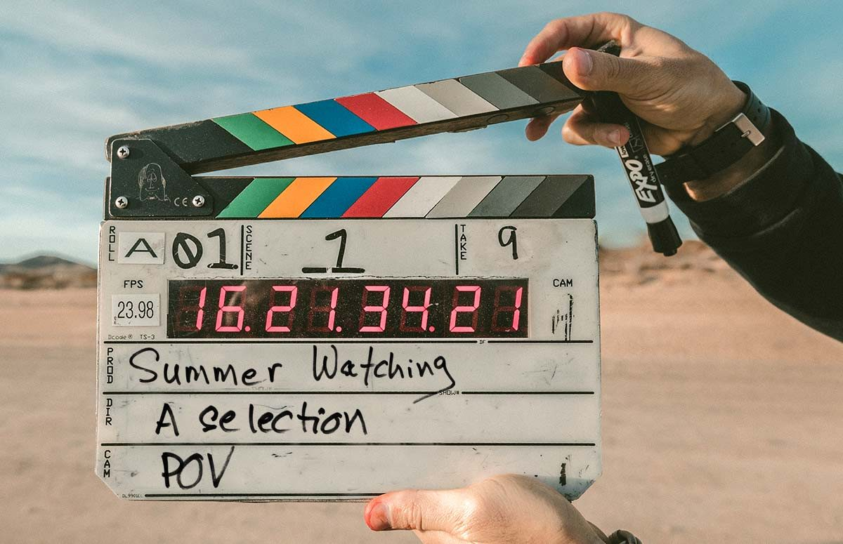 "Camera slate - ""summer watching"""