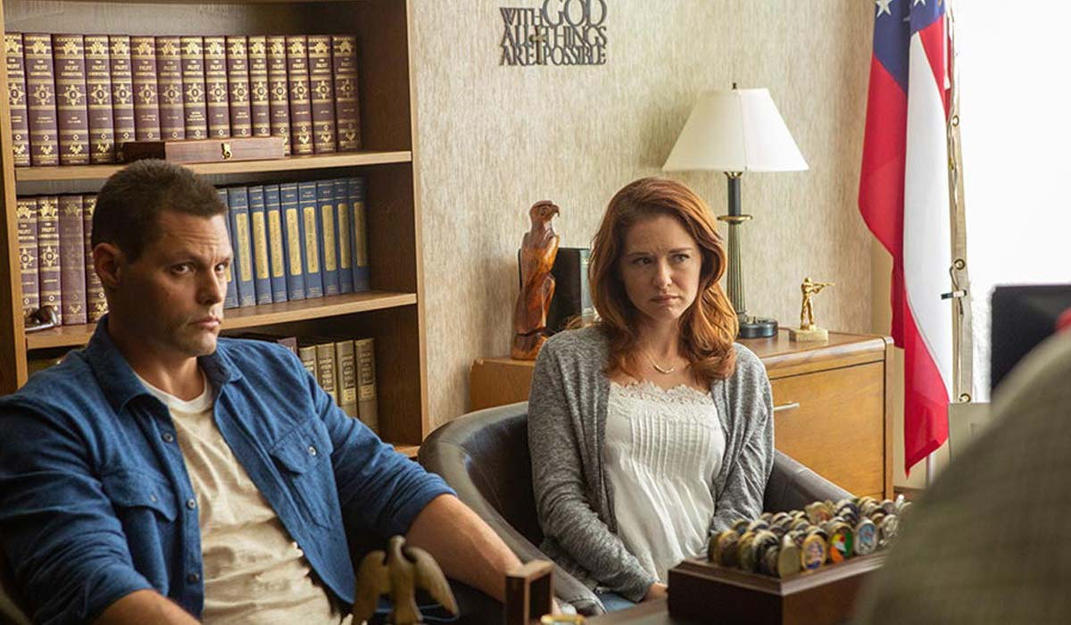 "Scene from ""Indivisible"": Darren and Heather in counseling"