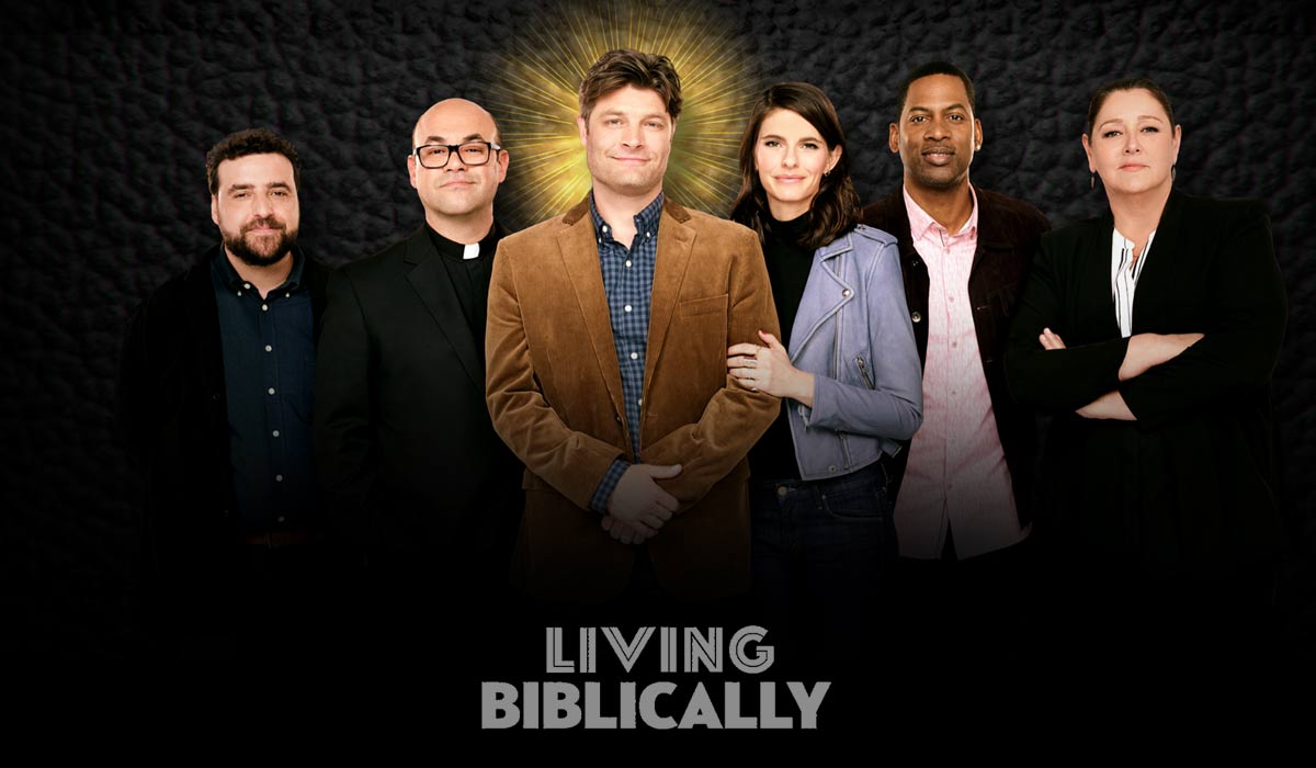 "The cast of ""Living Biblically"""