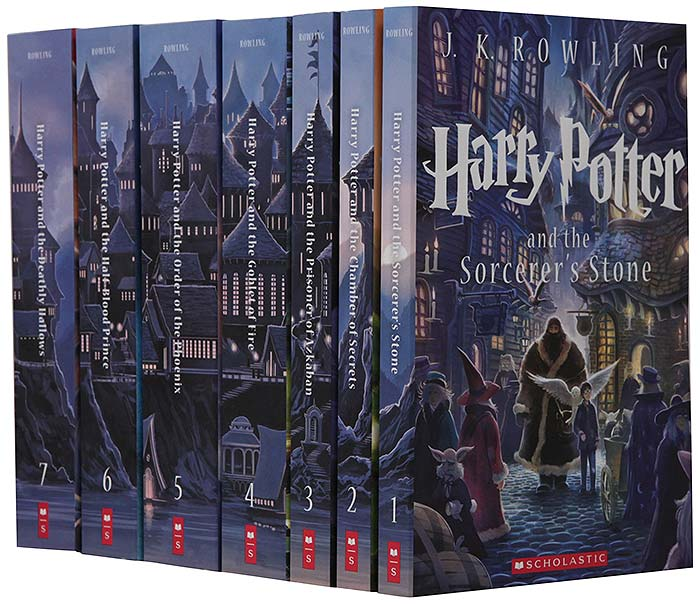 Set of the Harry Potter series of 7 books