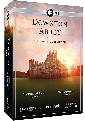 "Boxed set of the ""Downton Abbey"" TV series"