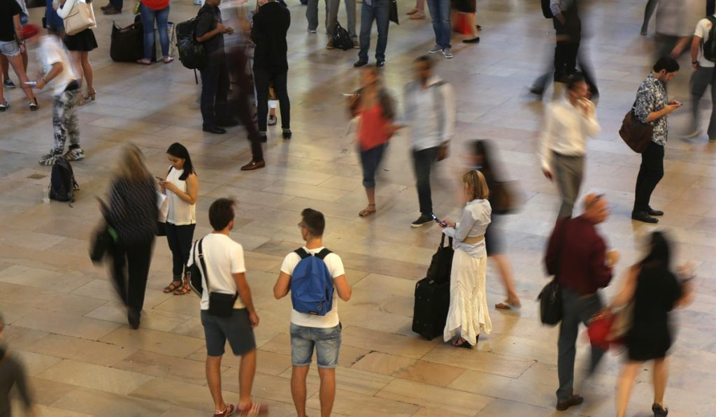 Grand Central Terminal random people - encounters waiting to happen