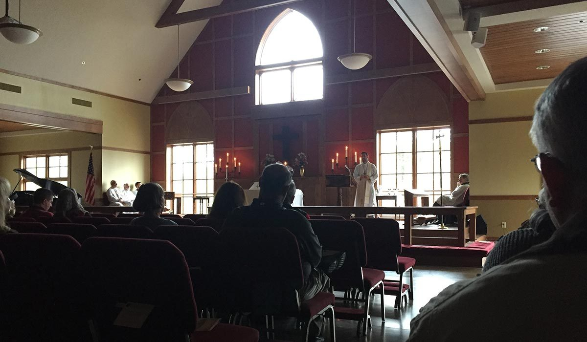St Andrew's Church worship service with no electricity