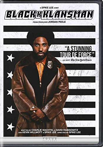 "DVD cover for ""BlacKkKlansman"""