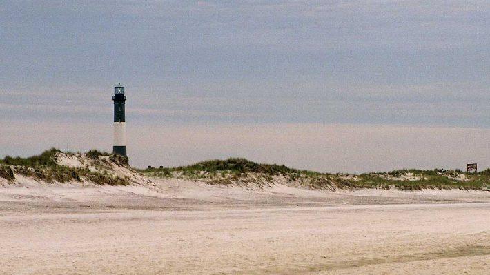 Fire Island, NY, beach and lighthouse