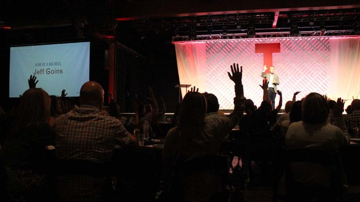 Tribe Conference 2019 - Jeff Goins on stage