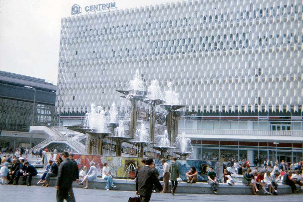 Berlin Alexanderplatz with Centrum department store, 1971